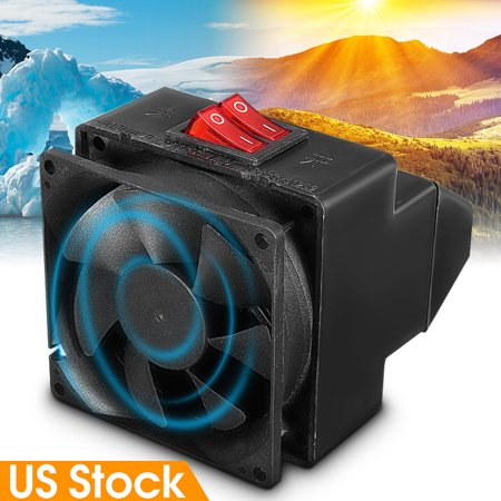Universal 2 In1 12V 150W/300W Adjustable 80℃ PTC Ceramic Auto Car Vehicle Cooling Fan Heater Dual Switchs Warm / Cool Windscreen Defroster Demister Vehicle Auto Overheat Protection