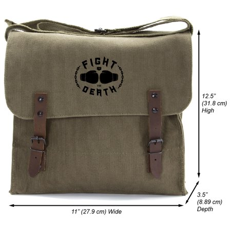 5ece5820f6 Army Force Gear - Fight to the Death Heavyweight Canvas Medic Messenger  Shoulder Bag - Walmart.com