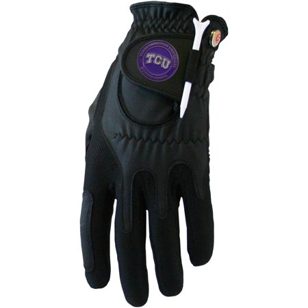 Tcu Horned Frogs Golf (TCU Horned Frogs Left Hand Golf Glove & Ball Marker Set - Black -)