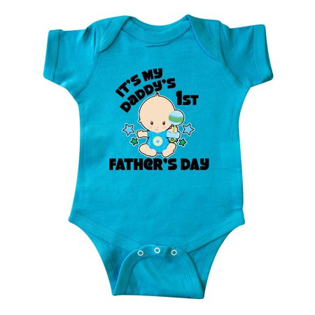 Its My Daddys 1st Fathers Day with Baby and Stars Infant Creeper