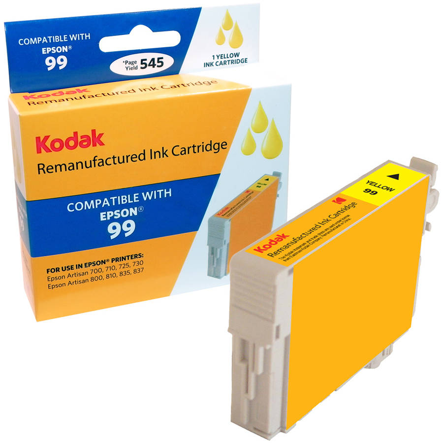 Kodak Remanufactured Ink Cartridge Compatible with Epson 99/T099 (T099420) High-Yield Yellow