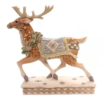 Jim Shore ADVENTURE AWAITS Polyresin White Woodland Reindeer -