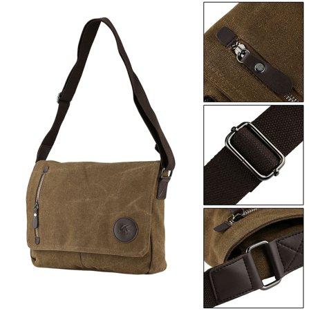 Men Vintage Canvas Shoulder Messenger Bag Laptop Bags Travel Business Bag