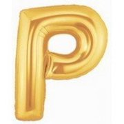 40 Inch Megaloon Gold Letter P Balloons - Wholesale