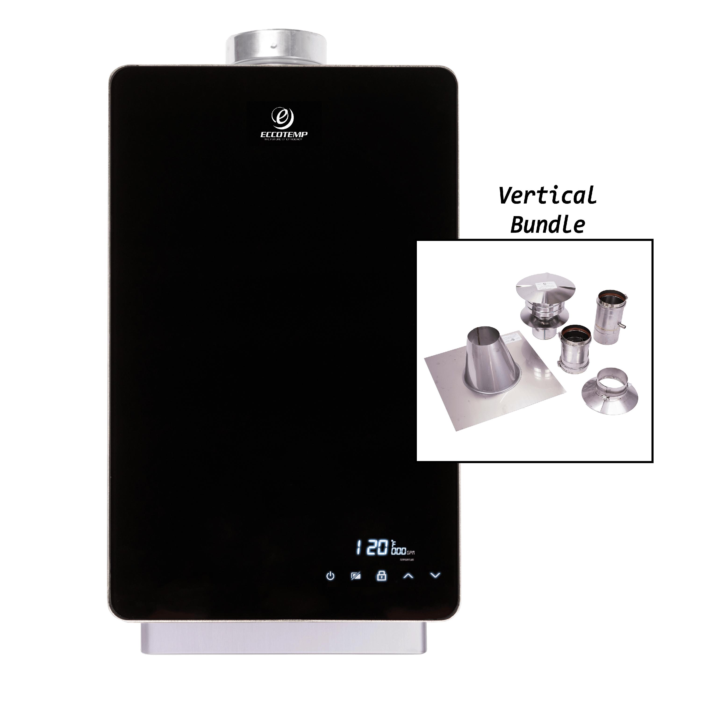 Eccotemp EL22i Indoor Liquid Propane Tankless Water Heater Vertical Bundle
