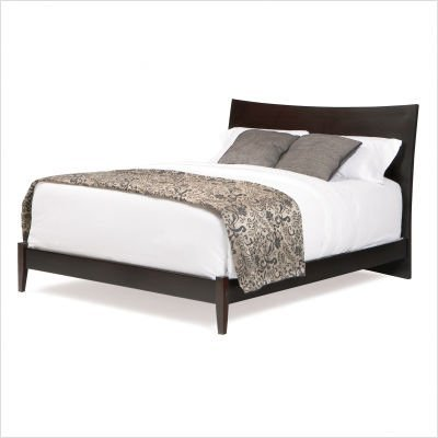Milano Bed w/ Open Footrail - Espresso-Color:Full