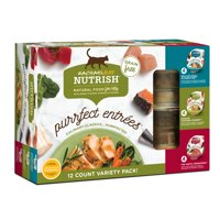 (12 Pack) Rachael Ray Nutrish Purrfect Entrees Grain Free Natural Wet Cat Food Variety Pack, 2 oz tubs