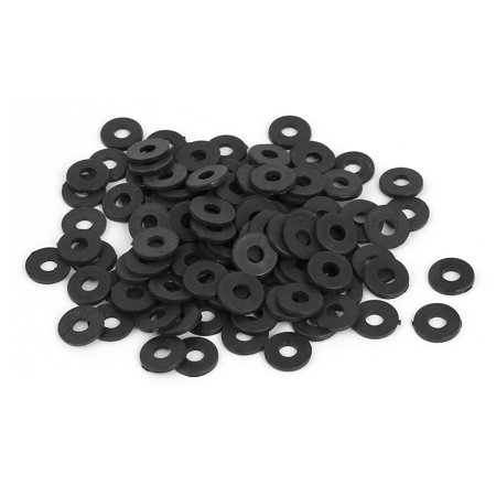 M3 x 8mm x 1mm Round Flat Nylon Shoulder Washer Gasket Seal Rings 100 Pcs - image 2 of 2