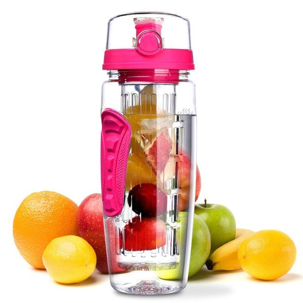 1000ml Large Capacity Fruit Infusing Infuser Water Bottle BPA Free Plastic Sports Detox Healthy Water Bottle
