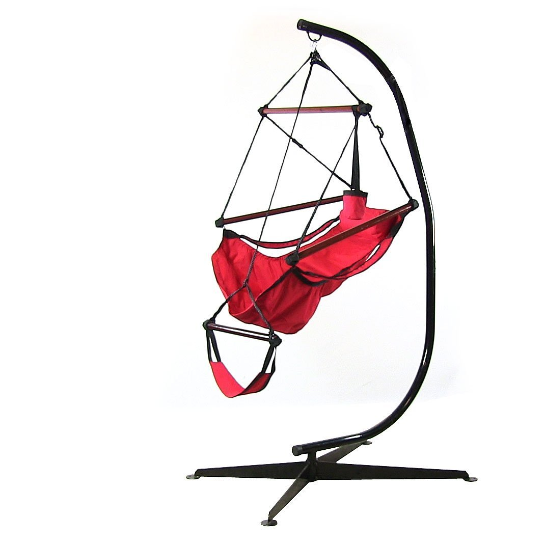 Click here to buy Sunnydaze Decor Sunnydaze Hanging Hammock Chair with Pillow and Stand by Sunnydaze Decor.
