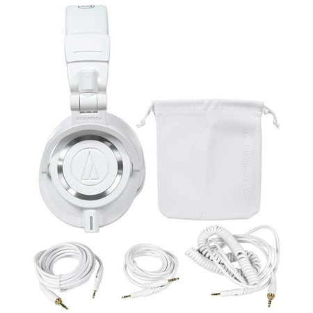 Audio Technica ATH-M50WH Over Ear Professional Studio Monitor White