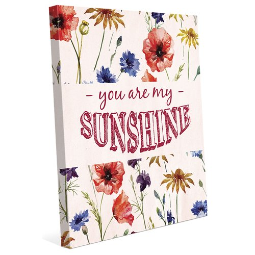 Click Wall Art 'You Are My Sunshine' Textual Art on Wrapped Canvas