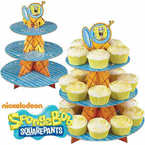 SpongeBob Cupcake And Treat Stand (Each) - Party Supplies