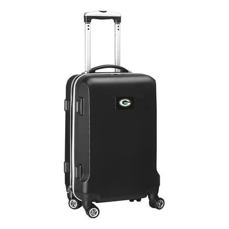Green Bay Packers 20u0022 8-Wheel Hardcase Spinner Carry-On - Black