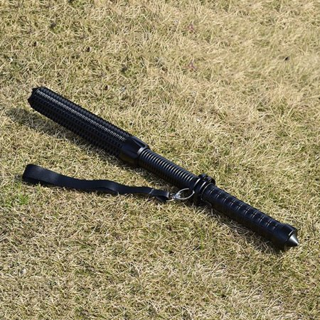 Outdoor Portable LED Spiked Club Flashlight Telescopic Focusing Torch