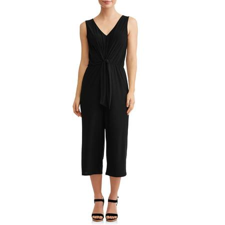 Women's Tie Front Wide Leg Jumpsuit (Portal Jumpsuit)