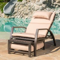 Christopher Knight Home Napa Outdoor Aluminum Wicker Chaise Lounge with Cushion by