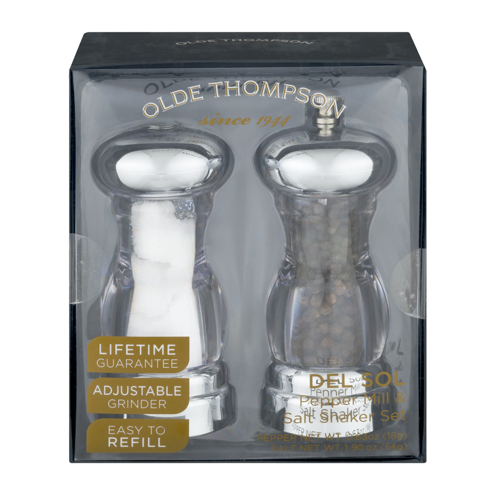 Olde Thompson Del Sol Pepper Mill & Salt Shaker Set 2 CT by Olde Thompson, Inc.