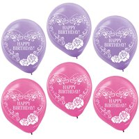 """Ever After High Printed 12"""" Latex Balloons (6 Pack) - Party Supplies"""