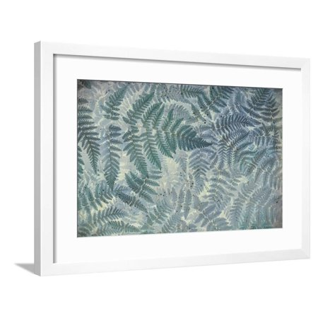 White Oak State Park Halloween (Washington State, Olympic National Park. Stylized Pattern of Oak Fern Framed Print Wall Art By Jaynes)
