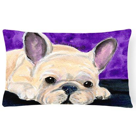 Carolines Treasures French Bulldog Polyester Rectangle Decorative Outdoor Pillow
