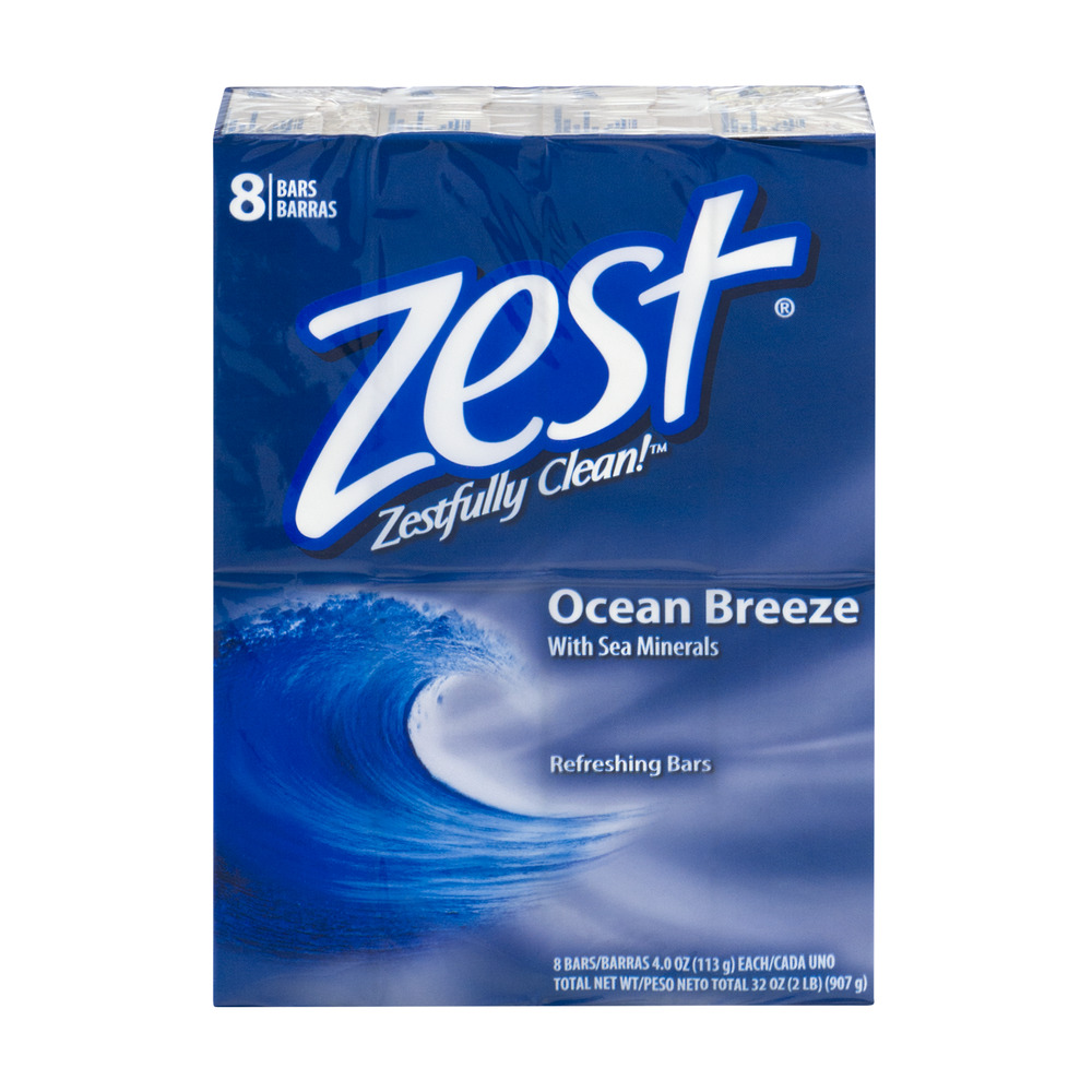 Zest Refreshing Bars Ocean Breeze - 8 CT