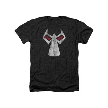 Batman DC Comics Bane Mask Outline Accents Adult Heather T-Shirt Tee