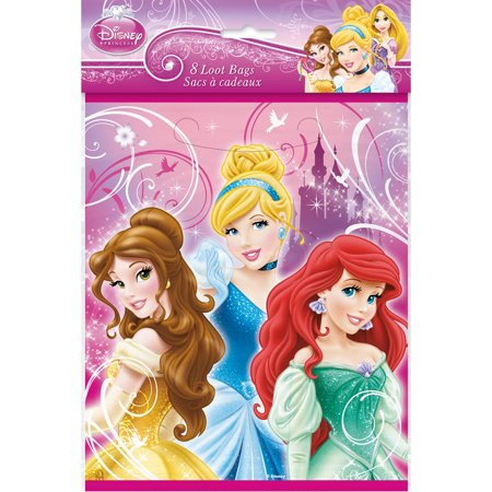 Disney Princess Party Loot Bags [8 Per Pack]