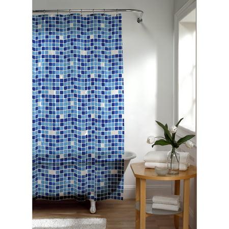 Maytex Tiles PEVA Vinyl Shower Curtain