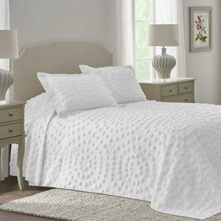 Ellen Twin White Bedspread Walmart Com