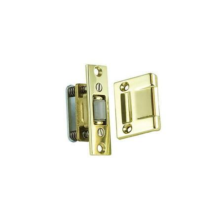 Baldwin 0430030 Roller Latch, Bright Brass
