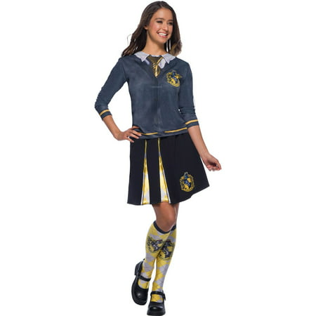 The Wizarding World Of Harry Potter Adult Hufflepuff Halloween Costume Top - Top 10 Halloween Costumes For Adults 2017