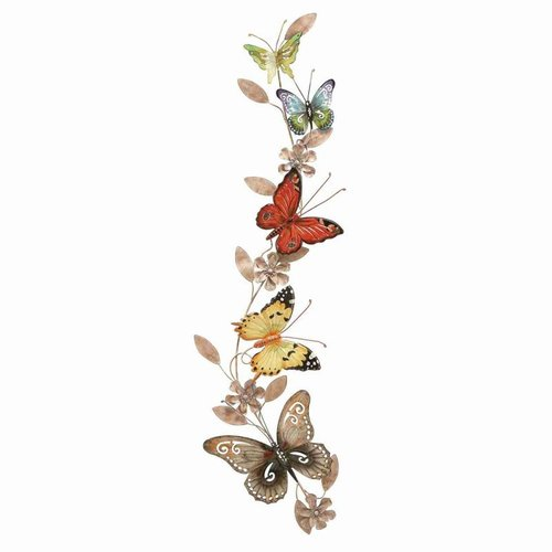 Woodland Imports 13805 Wall Metal Butterfly Decor by Woodland Imports