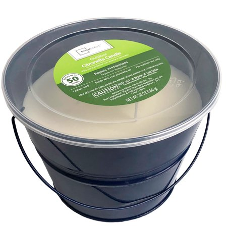 Mainstays Outdoor Citronella Bucket Candle, 30oz, Multiple Colors