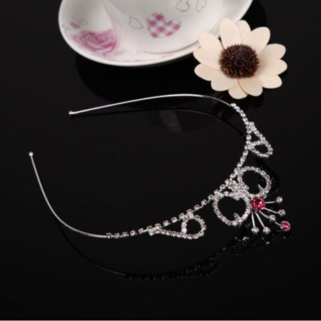 Cute Lively Baby Girls Crown Princess Hair Ribbon Hardback Pretty Bridal Hair Clasp - image 1 of 5
