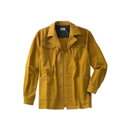 Liberty Blues Men's Big & Tall Duck Weave Canvas Barn Shirt (Mens Barn Coat)