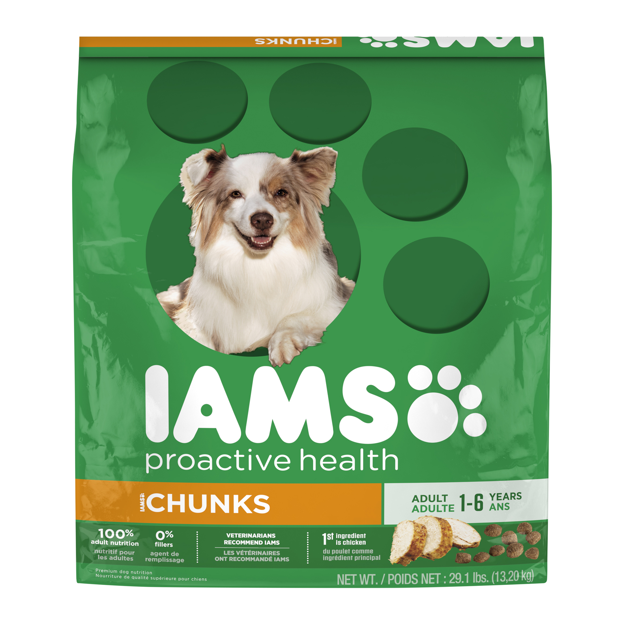 IAMS PROACTIVE HEALTH Adult Chunks Dry Dog Food 29.1 Pounds