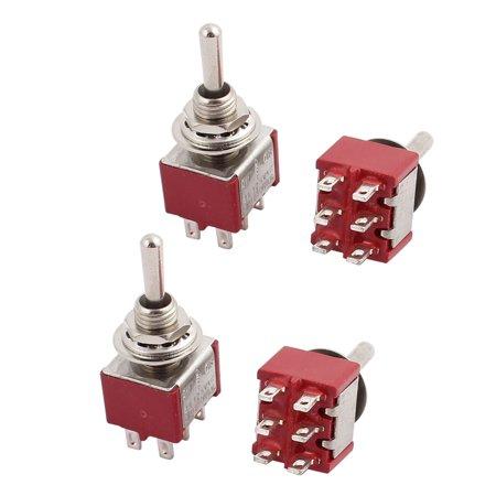 4 Pcs ON/Off/ON 3 Position SPDT Toggle Switch AC 120V/5A 250V/2A - image 1 of 1