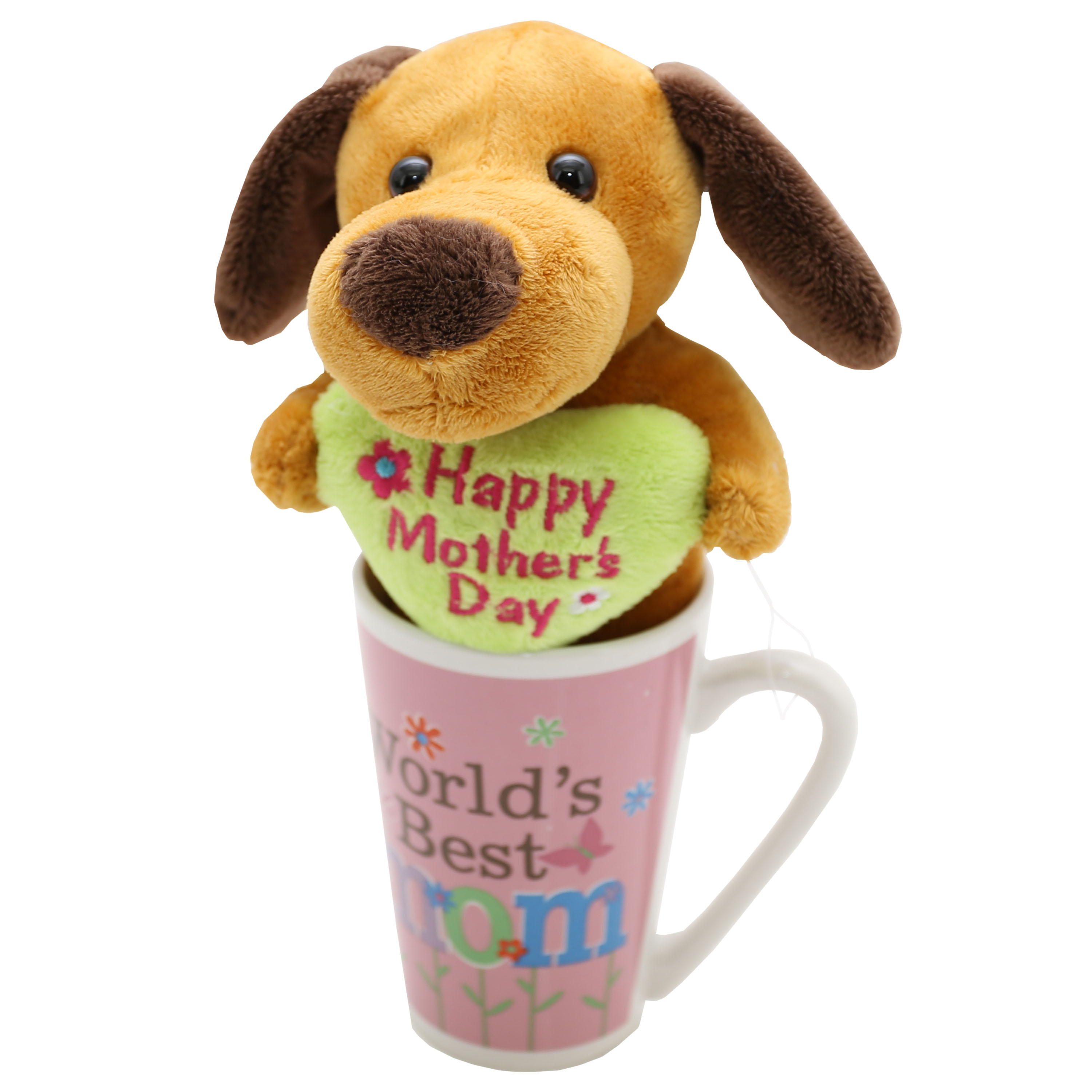 8-Inch Plush In Mug - Brown Puppy