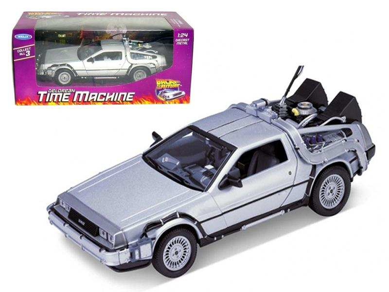 """Delorean From Movie """"Back To The Future 1"""" 1 24 Diecast Model Car by Welly by Welly"""