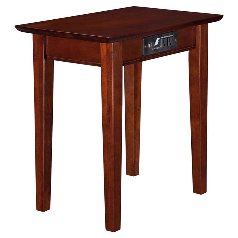 Atlantic Furniture Anderson Rectangular End Table in Walnut