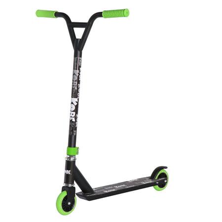KOBE EDGE Kick Pro Scooter 2 Wheel - Reinforced Steel - Curved T-bar - Teens, Kids 5-yo and above - Green - image 6 de 11