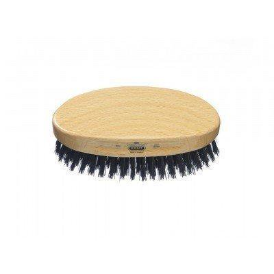 Kent MG2 Oval Beachwood hair brush with Pure Black Bristle, PF22
