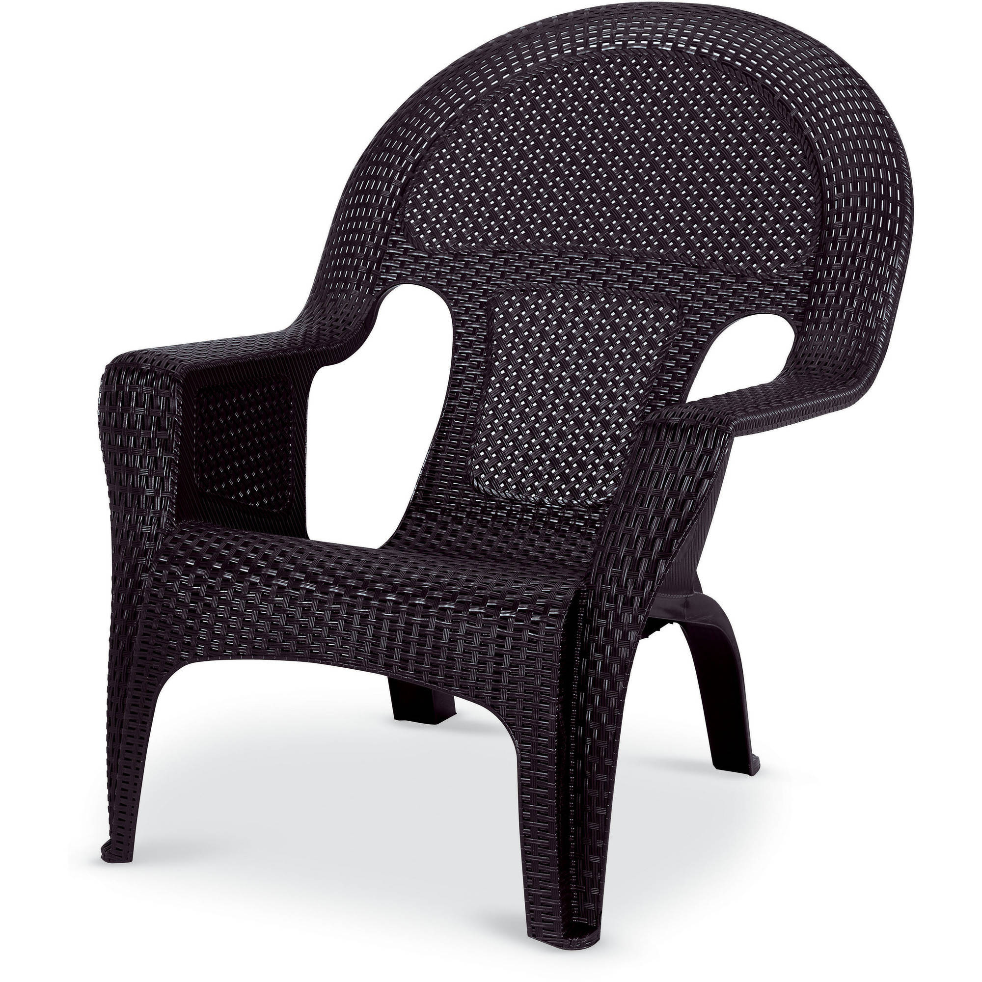 US Leisure Resin Wicker Lounge Chair, Coffee   Walmart.com