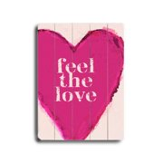 Artehouse LLC Feel the Love by Lisa Weedn Graphic Art Plaque