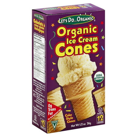 Lets Do Organics Organic Ice Cream Cones, Cake Style Cones, 2.3 Oz (Halloween Ice Cream Cone Cakes)