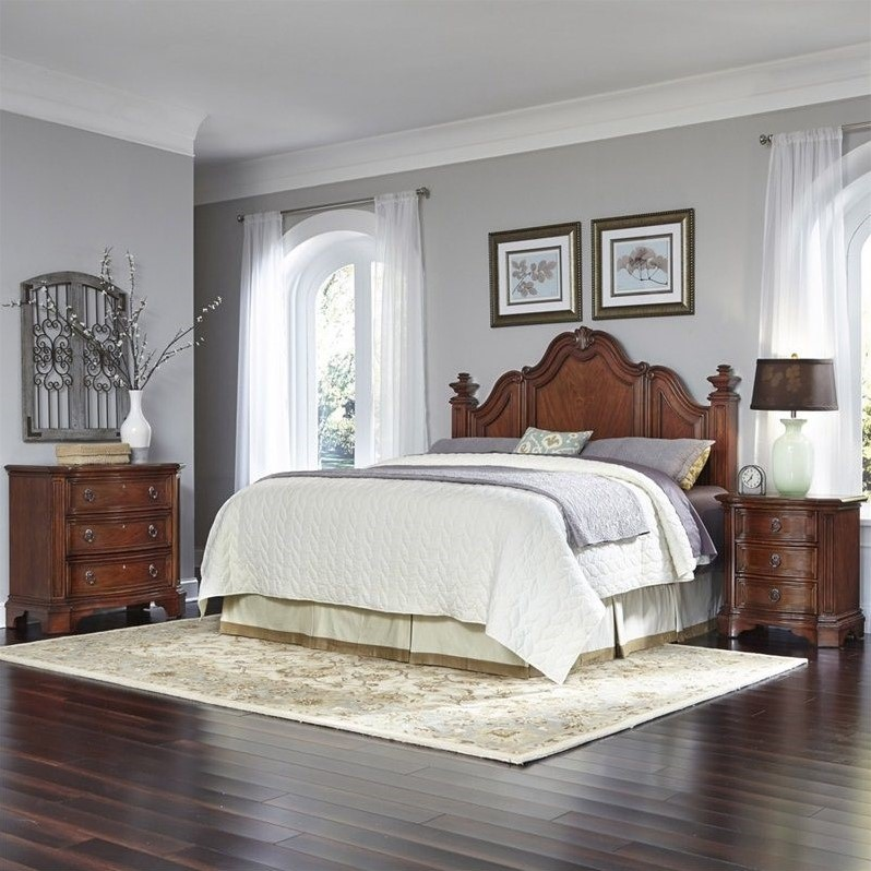 Home Styles Santiago King/California King Headboard, Night Stand and Chest