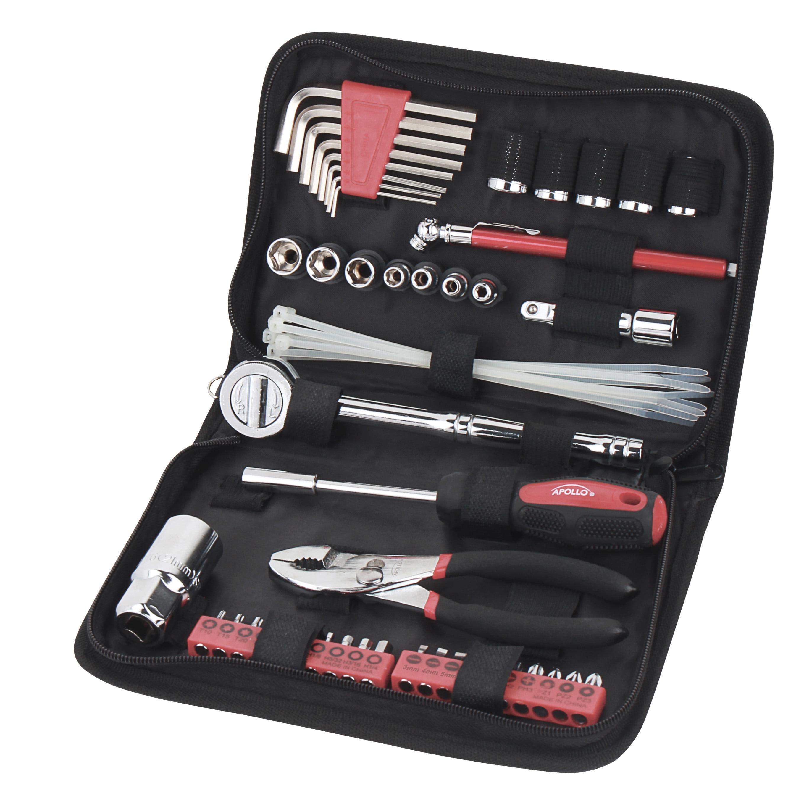 Apollo Tools DT9775 56 Piece Auto Tool Set In Zipper Case- Metric