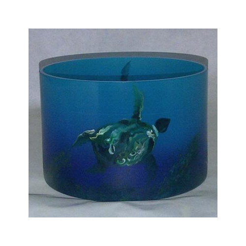 Womar Glass Sea Turtle Table Vase