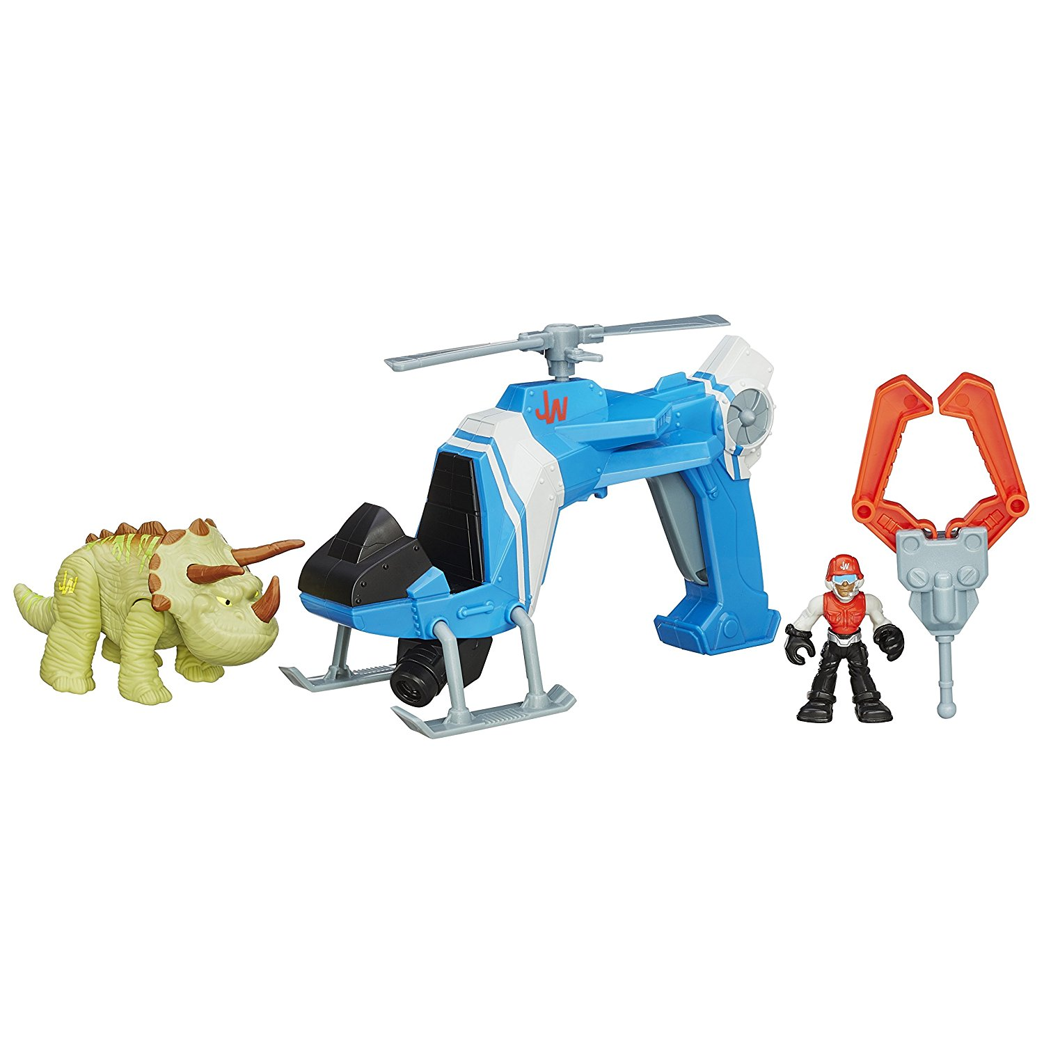 Heroes Jurassic World Dino Tracker Copter Toy..., By Playskool Ship from US by